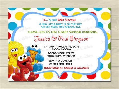Sesame Street Baby Shower Invitations Elmo Baby Shower