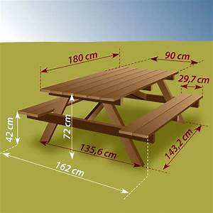 Table Bois Pique Nique : construire une table de pique nique ooreka ~ Melissatoandfro.com Idées de Décoration