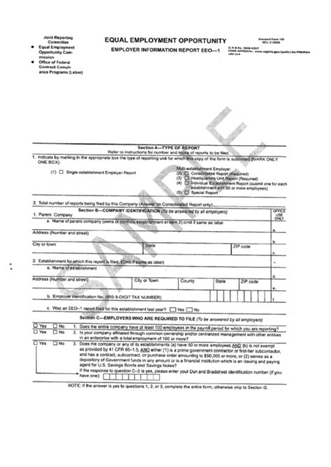 form  employer information report eeo  equal