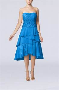 cornflower blue romantic a line sleeveless backless With backless dress wedding guest