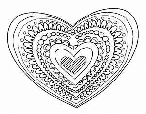 Dibujo de Mandala corazón para Colorear Dibujos net