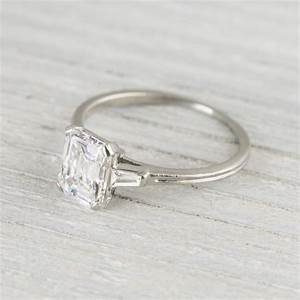 vintage engagement rings With wedding band for vintage engagement ring