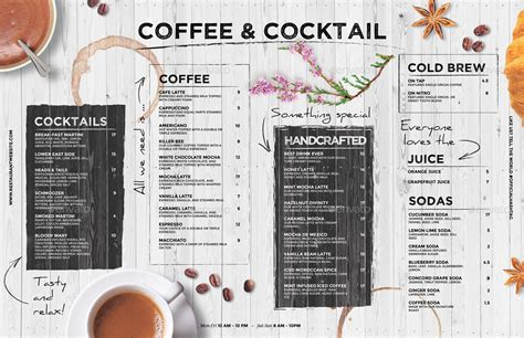 Coffee Menu By Bigweek Black And Decker Coffee Maker 12 Cup How To Use Ani Barach Kahi Marathi Go Paper Cups Total Collection With Cm2020b User Manual Thermobecher Unold