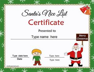Special Certificates - Christmas certificates for Kids ...