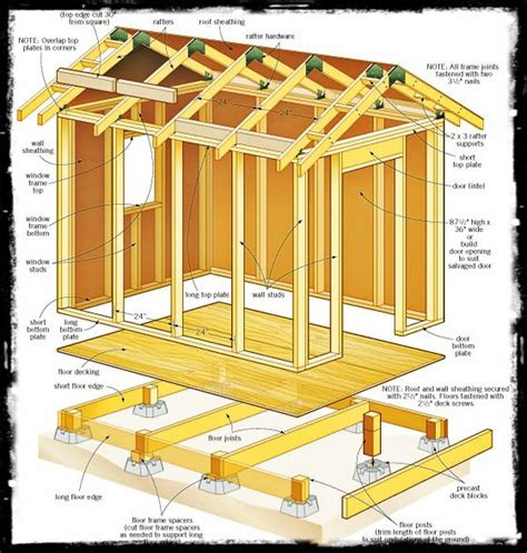 plans      shed backyard shed   wood