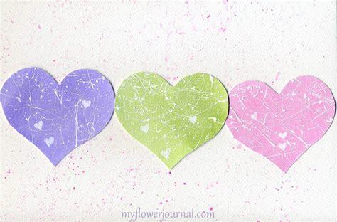 Pastel Splattered Hearts For Valentines My Flower Journal