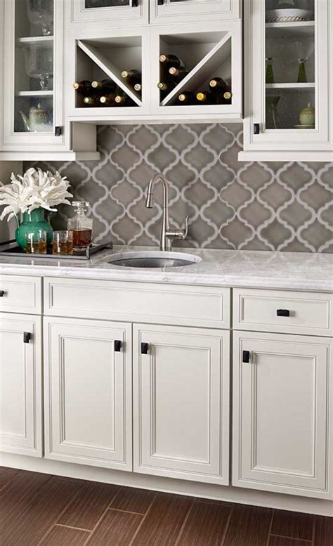 arabesque pattern  crackle finish color dove grey