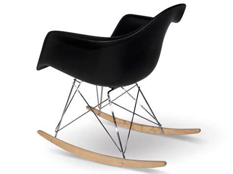 eames rocking chair rar black