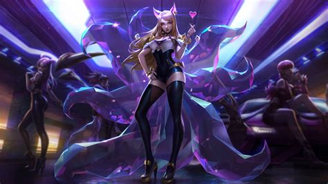 ahri league  legends  laptop full hd p