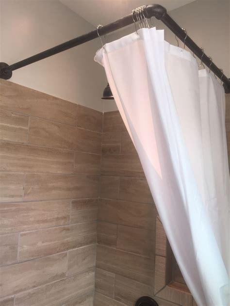 diy shower curtain rod diy bathroom remodel tub
