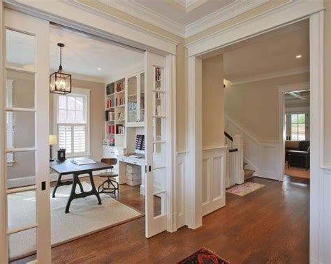 Love This Open Office With Beautiful Craftsman Trim See