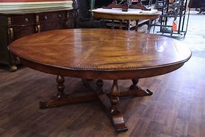 Jupe Table Extra Large Round Solid Walnut Round Dining Table