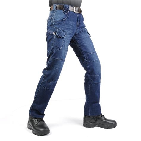 casual motorcycle new ix7 swat military style cargo jeans men casual