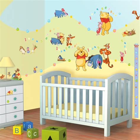 stickers chambre bébé ourson stickers winnie ourson