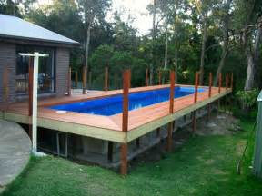 rectangular above ground pools with wooden decks country wood decks decks and