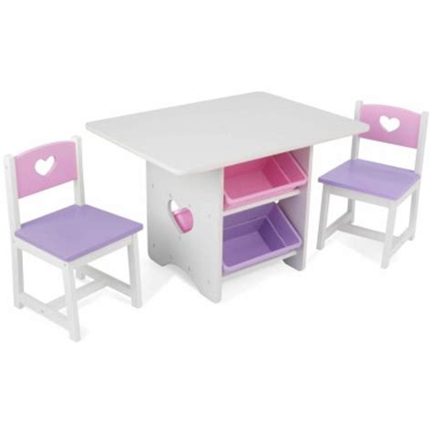 table avec rangement chaise table avec 4 bacs de rangement et deux chaises