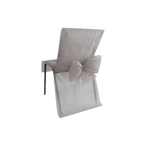 housse de chaise intissé housses de chaise grises intissé avec noeuds les 10