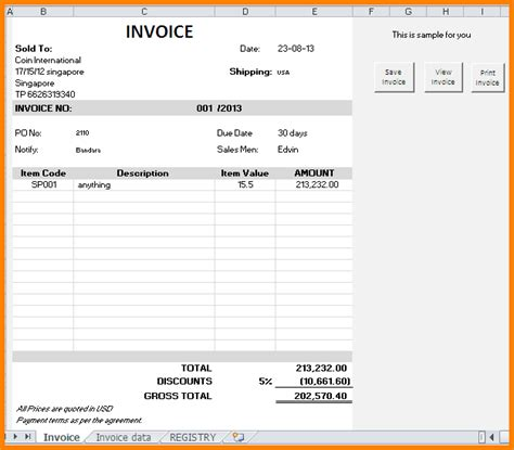 Creating An Invoice Template by 6 Create Invoice In Excel Free Invoice Letter