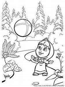 desenhos para colorir e pintar para criancas masha e o With maestro boomerang