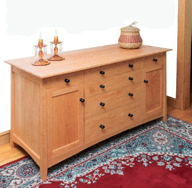 building  cherry wood sideboard   thos moser