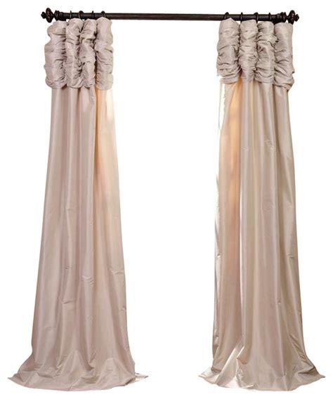 ruched antique beige faux silk taffeta curtain single