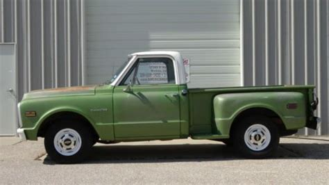 purchase used 1971 chevrolet c10 pickup short bed step side stepside not gmc in wichita kansas