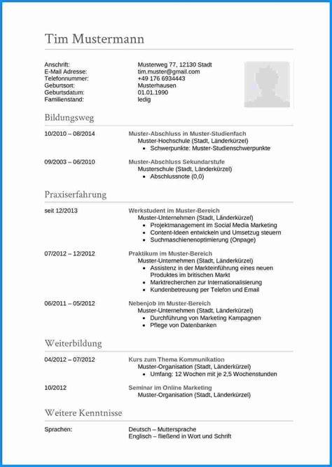 Tabellarischer Lebenslauf Englisch by Lebenslauf Auf Englisch Tipps F 252 R Resume Und Cv