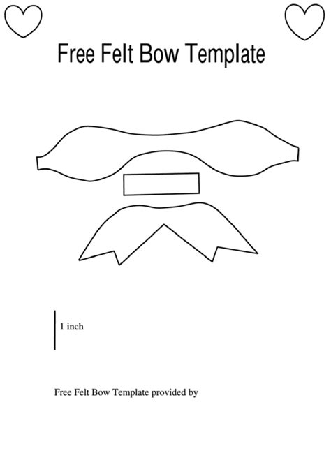 Bow Template Felt Bow Template Printable Pdf