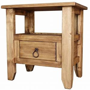 Rustic Pine Collection - San Marcos End Table - LAT20