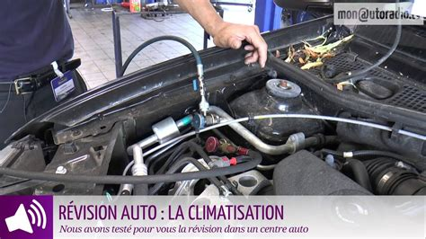 revision auto la climatisation  youtube