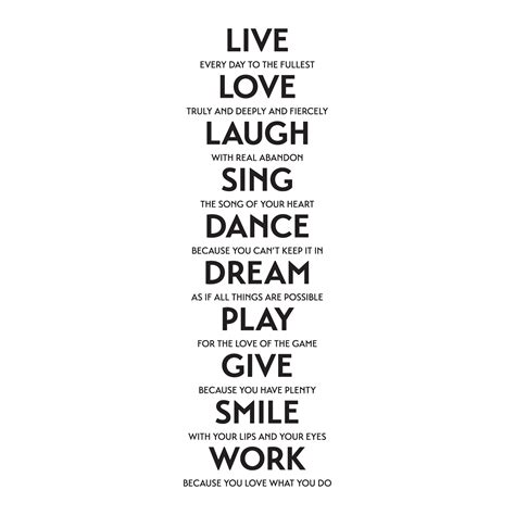 love laugh sing  wall quotes decal wallquotescom