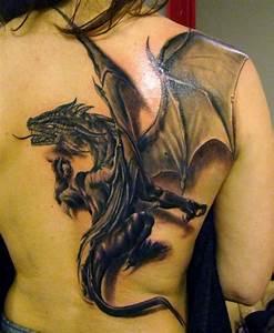 Drachen Tattoo Oberarm : gro es drachentattoo in 3d f r den kompletten r cken atemberaubende tattoo ideen drachen ~ Frokenaadalensverden.com Haus und Dekorationen