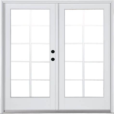 Simonton Patio Doors Home Depot by Simonton White 2 Panel Rail Sliding Patio Door With