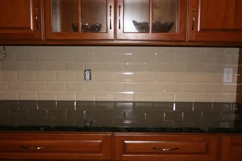 Show Me Kitchen Cabinets by Cherry Cabinets With Subway Tile Backspash Show Me Your