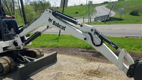 bobcat  mini excavator  sale running operating video youtube