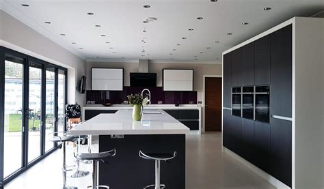 modern kitchen installation  birmingham white high