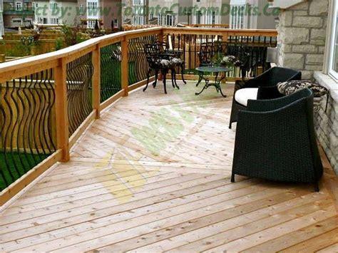 diagonal cedar deck design toronto custom deck design