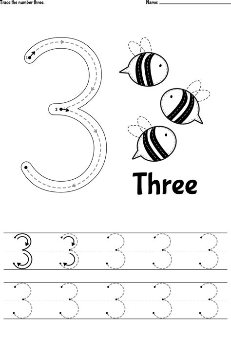 number tracer pages 3 printable shelter
