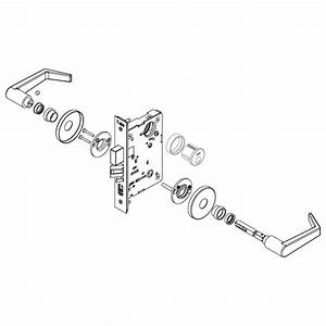 Yale 8801fl Mortise Lockset W  Rose Trim
