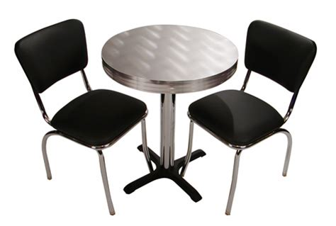 retro cafe seating restaurant home chrome diner table