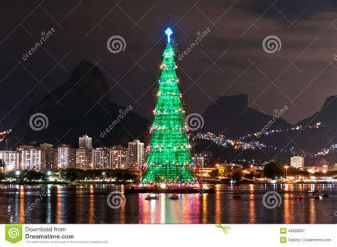 christmas tree structure in rio de janeiro stock photo image 48999607