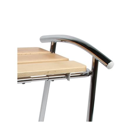 chaise pour salle de bain tabouret de salle de bain sedilvasca chromé et bois