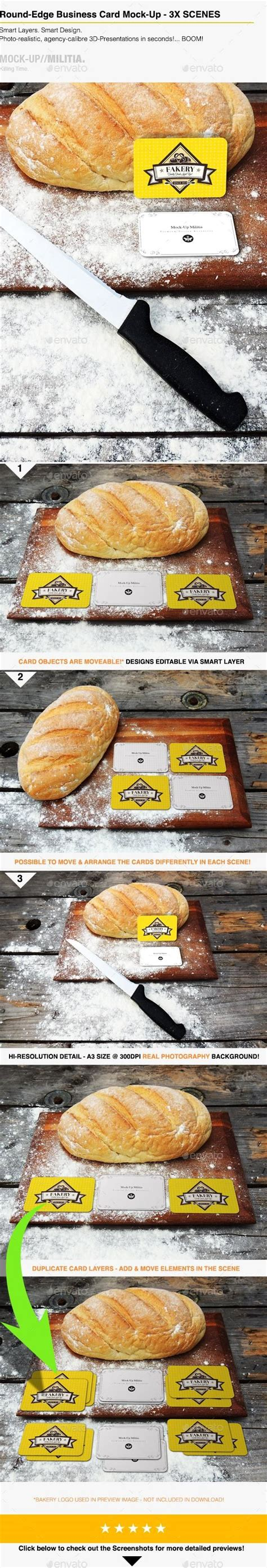 bakery business card mock   corner  images