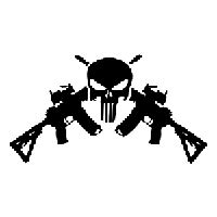 ar  punisher die cut vinyl decal pv pirate vinyl decals