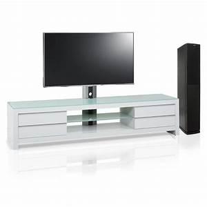 Meuble Tv Design Blanc 200 Cm PRM 200H SWW Exclusive