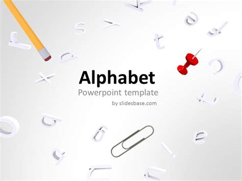 alphabet powerpoint template slidesbase