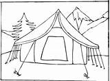 Coloring Camping Tent Printable sketch template