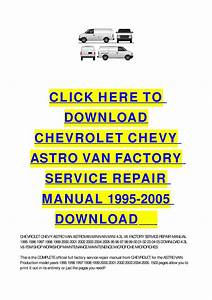 Chevy Astro Repair Manual Free To Download