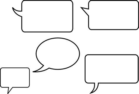 conversation baloon template speech bubbles clip art at clker vector clip art