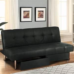 Microfiber Futon Folding Sofa Bed Couch Mattress Storage